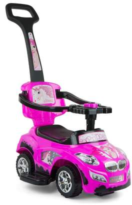 Milly Mally 3-in-1 Happy Ride On Car (Pink)