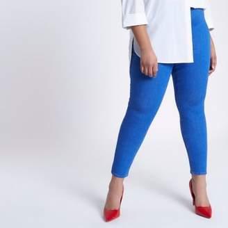 River Island Womens Plus blue Jaida skinny pull-on leggings