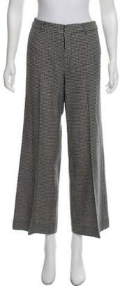 Ralph Lauren Mid-Rise Houndstooth Pants Black Mid-Rise Houndstooth Pants
