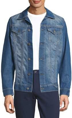 Robin's Jean Men's Light Washed Denim Jacket