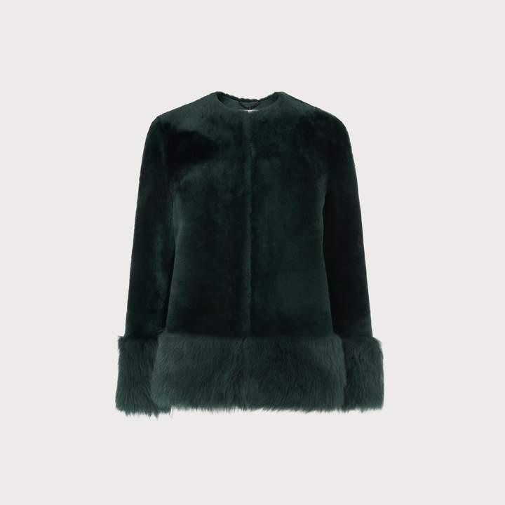 Mishia Green Shearling Jacket
