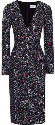 J. Mendel J.mendel Camellia Printed Silk-Blend Crepe Dress
