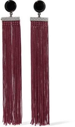 Ben-Amun Gunmetal-Tone Stone And Tassel Earrings