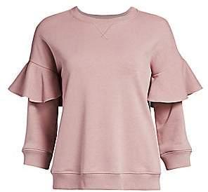 RED Valentino Women's Ruffle Jersey Sweatshirt