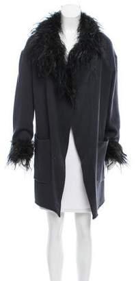 Saint Laurent Fur-Trimmed Cashmere Sweater
