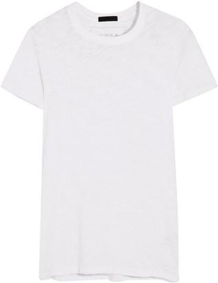 ATM Anthony Thomas Melillo - Schoolboy Slub Cotton-jersey T-shirt - White $85 thestylecure.com