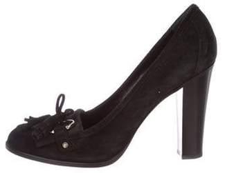 Gucci Suede Semi Pointed-Toe Pumps Black Suede Semi Pointed-Toe Pumps