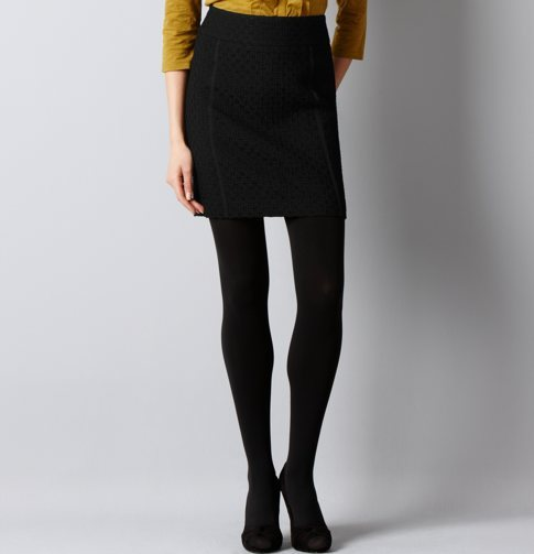 Textural Tweed Mini Skirt