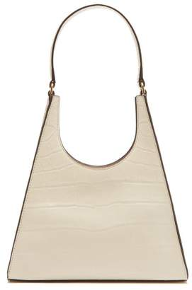 STAUD Rey Crocodile Embossed Leather Bag - Womens - Cream
