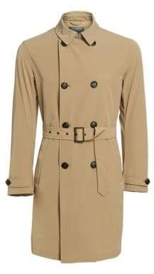 Emporio Armani Men's Belted Trench - Tan - Size 48 (38)