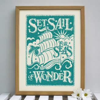 Snowdon Design & Craft Seaside Nautical Sailing Print