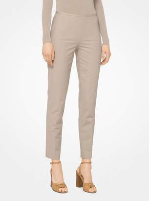 Michael Kors Stretch Cotton-Broadcloth Trousers