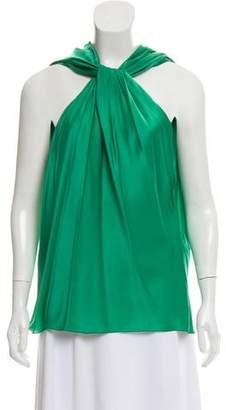 Lanvin Silk Cowl Neck Blouse