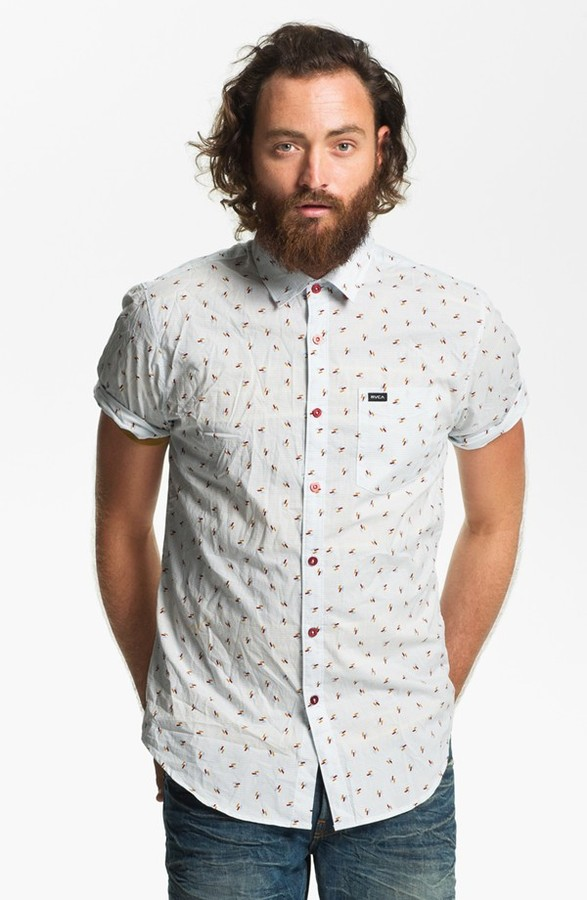 RVCA 'Avalon' Slim Fit Short Sleeve Sport Shirt