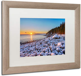 Michael Blanchette Photography 'White Boulders' Matted Framed Art