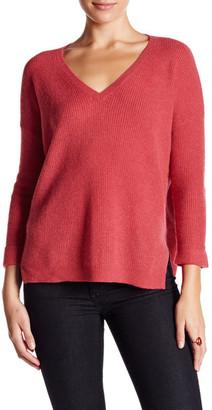 Velvet By Graham & Spencer V-Neck Cashmere Sweater $226 thestylecure.com