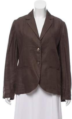 100% Capri Linen Notch-Lapel Blazer