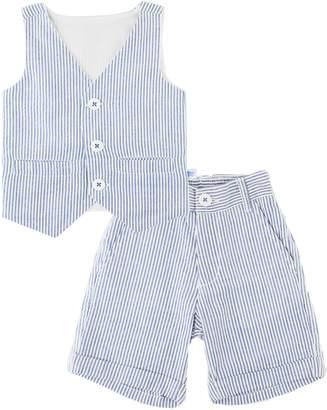 RuggedButts Seersucker Vest & Shorts Set