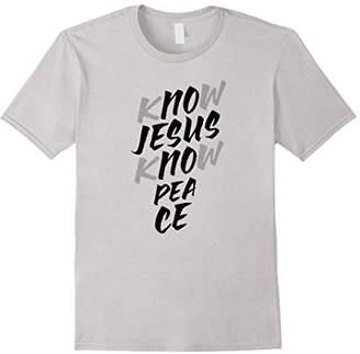 No Jesus No peace Christian Shirt Religion Tee I Love Jesus