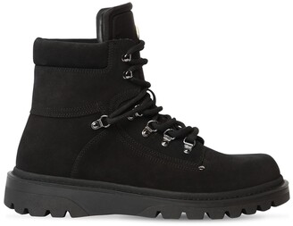 Moncler Egide Leather Lace-Up Boots