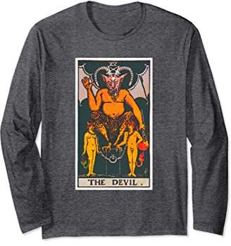 Devil Tarot Card Long Sleeve T-Shirt Psychic Tee Shirt