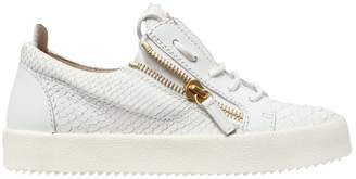Giuseppe Zanotti Design 20mm Embossed Leather Sneakers