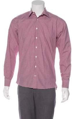 Etro Gingham Dress Shirt