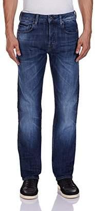 G Star G-Star Men's Attacc Straight Straight Leg Jeans, Blue (Dark Aged 6566), 27W x 32L