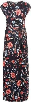 Dorothy Perkins Womens **Tall Navy Tie Waist Maxi Dress
