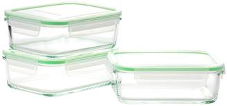 Kinetic Glassworks Series Rectangular Medium Food Storage Set (6 PC)