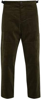 Judo tapered-leg cropped cotton-corduroy trousers