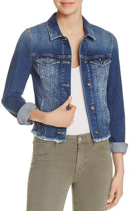 Mavi Samantha Raw Hem Denim Jacket $118 thestylecure.com