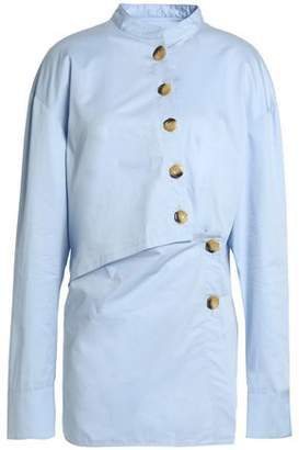 Tibi Button-Detailed Cotton-Poplin Tunic