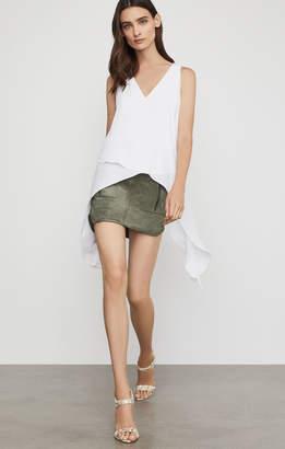 BCBGMAXAZRIA Patch Pocket Faux Suede Skirt