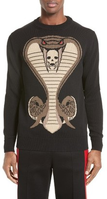 Men's Givenchy Cobra Intarsia Sweater $1,050 thestylecure.com