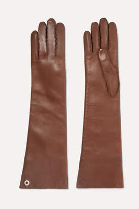 Loro Piana Leather Gloves - Brown