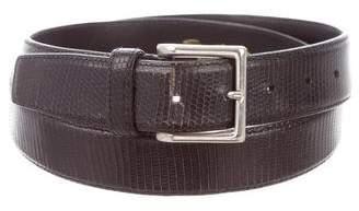 Santoni Embossed Leather Belt
