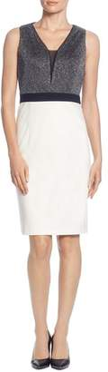 T Tahari Sleeveless Color-Block Sheath Dress