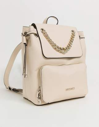 Love Moschino saffiano backpack in ivory