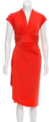 Zac Posen Z Spoke by Ruched Midi Dress