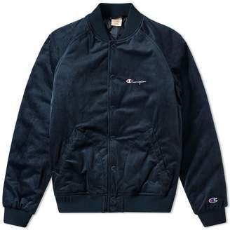 Champion Reverse Weave Velvet Bomber Jacket