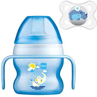 Mam Starter Cup 150ml and Soother - Blue