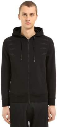Neil Barrett Bolts Hooded Zip-Up Jersey Sweatshirt