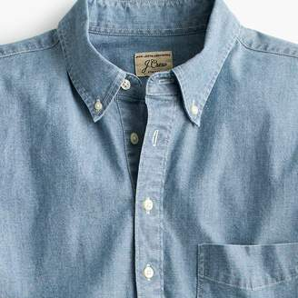 J.Crew Short-sleeve popover shirt in stretch chambray