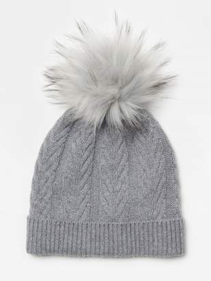 Riley Cashmere Hat with Pom Pom