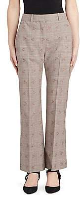 Altuzarra Women's Alder Floral Check Trousers