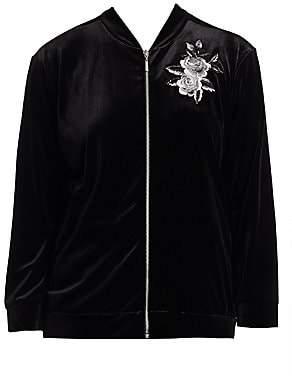 179d900b3c170 Joan Vass Women s Embroidery Velvet Jacket