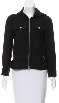 Courreges Hooded Wool Jacket