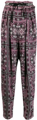 Isabel Marant loose-fit printed trousers