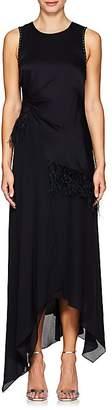 3.1 Phillip Lim Women's Feather-Trimmed Silk Maxi Dress